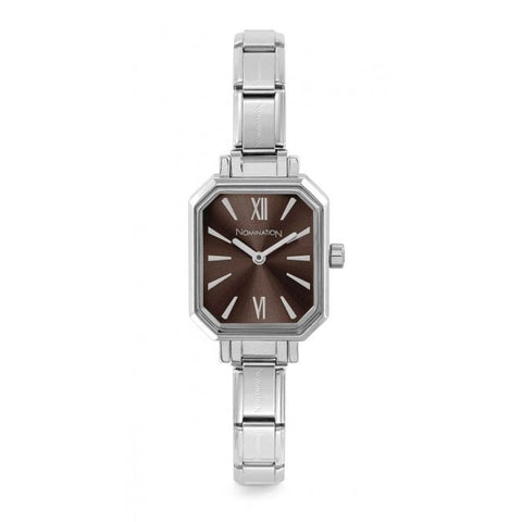 Nomination - Ladies Stainless Steel Watch with Brown Face 076030 020