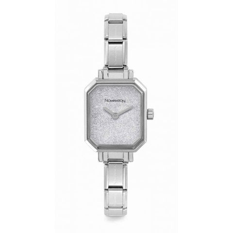 Nomination - Ladies Stainless Steel Watch with Silver Glitter Face 076030 023