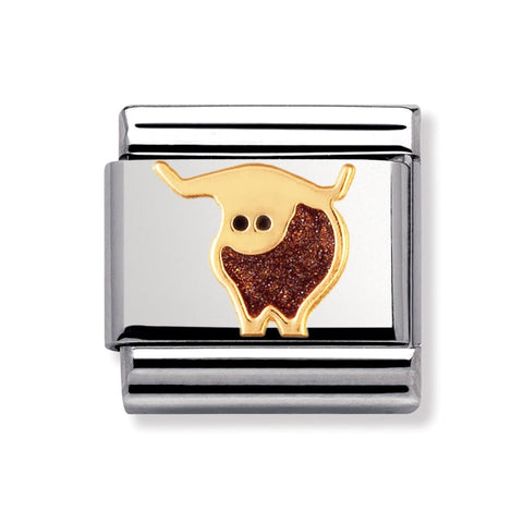 Nomination 18ct Gold & Enamel Scottish Cow Charm 030250 02