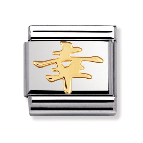 Nomination Stainless Steel & 18ct Gold Chinese Fortune Symbol Charm 030120 05