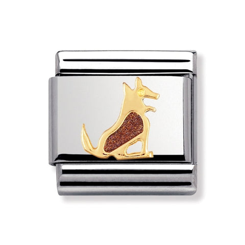 Nomination 18ct Gold & Enamel Dog Charm 030212 46