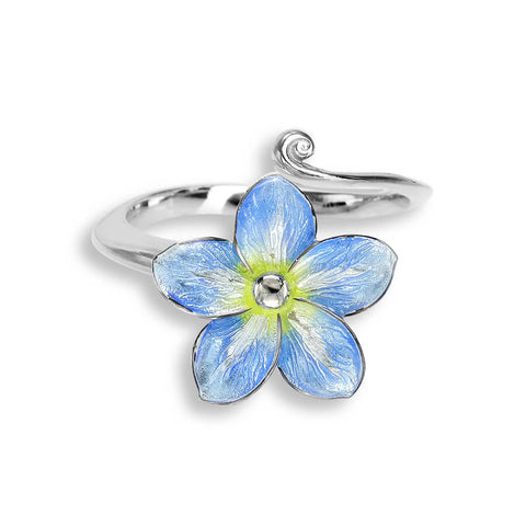 Nicole Barr - Sterling Silver Blue Forget Me Not Ring NR0333A