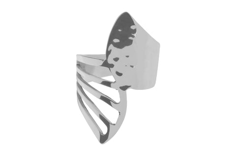 Tianguis Jackson Sterling Silver Wings Ring R0920 0408054