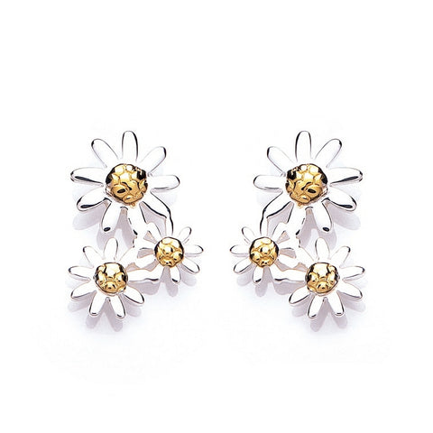 Daisy Marguerite 15mm Three Drop Earrings E4019