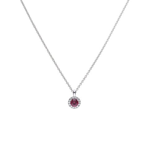 Diamonfire Round 1.21ct Pave Pendant with Red CZ P4625 4704013
