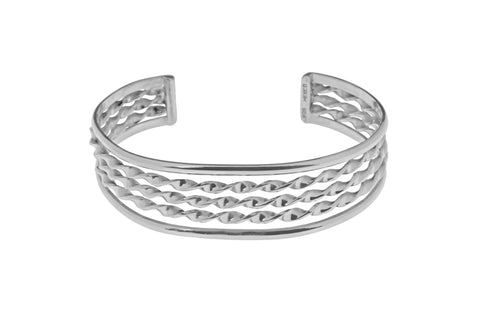 Tianguis Jackson Sterling Silver 5 Strand Twist Torque Bangle BT2166 0401237