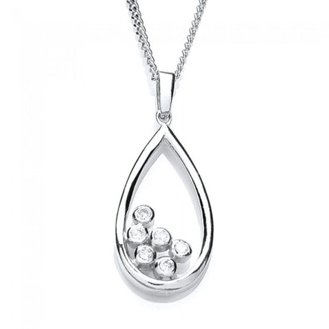 Purity 925 Sterling Silver & Cubic Zirconia Pendant PUR1329P