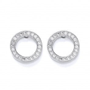 Purity 925 Sterling Silver & Cubic Zirconia Round Stud Earrings PUR3622/2