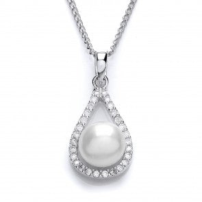 Purity 925 Sterling Silver & CZ Teardrop Pendant PUR3624P 2610212