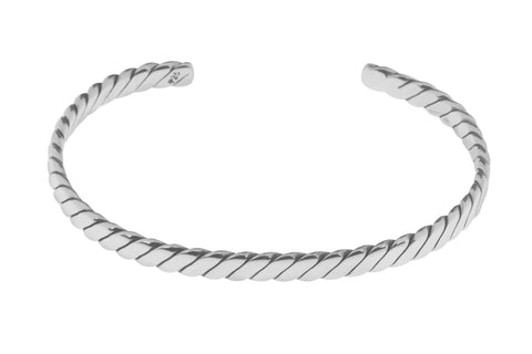 Tianguis Jackson Sterling Silver Twisted Torque Bangle BT2147 0401229