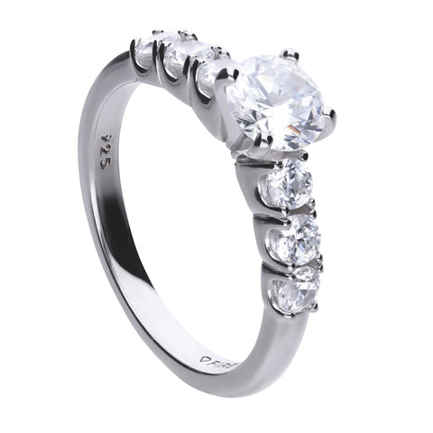Diamonfire 1.6ct Solitaire CZ Ring Size M R3633 4701007