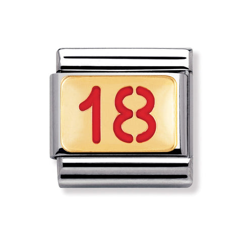 Nomination 18ct Gold & Enamel 18th Birthday Charm 030230 43 Sale
