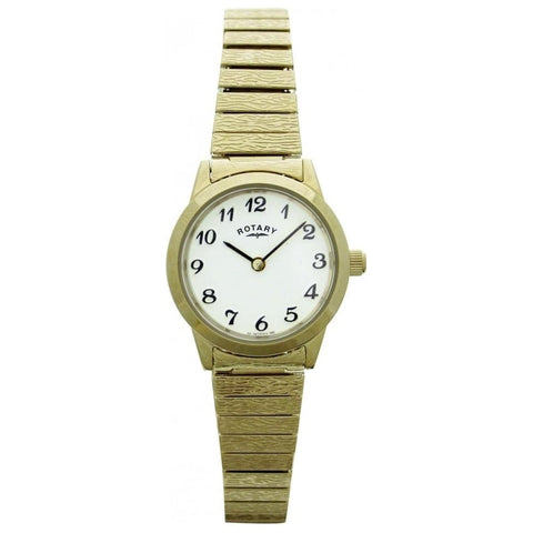 Rotary Ladies Gold Plated Expander Watch LB100762