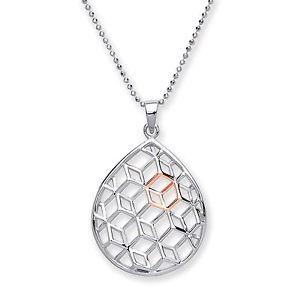 Purity 925 Sterling Silver Pear Shaped Pendant PUR3760P/S