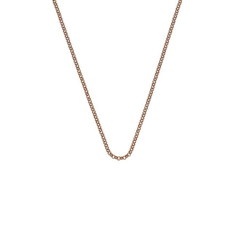 "Hot Diamonds Emozioni 30"" Rose Gold Belcher Chain CH014 2104001"