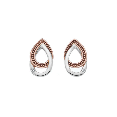 Hot Diamonds Two Tone Chandelier Vintage Oval Stud Earrings DE499 2003217