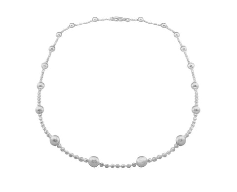 "Tianguis Jackson Sterling Silver 17"" Bead Chain CN0514 0406203"