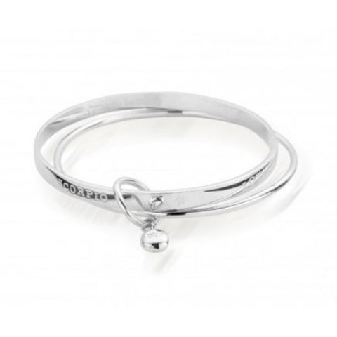 ChloBo - Scorpio Sterling Silver Zodiac Bangle 2205182