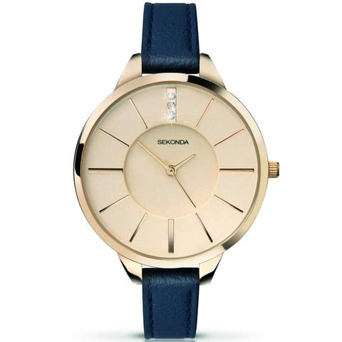 Sekonda Editions Ladies Blue Leather Watch 4017