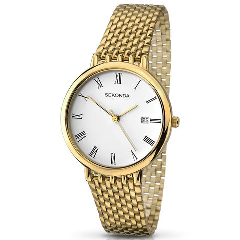 Sekonda Mens Gold Plated Bracelet Watch 3683 1006074