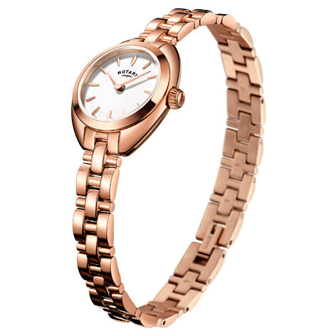 Rotary Ladies Petite Rose Gold Plated Bracelet Watch LB05016/02