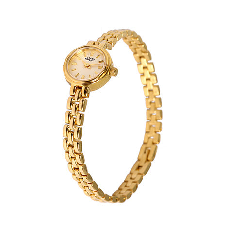 Rotary Cocktail Ladies Gold Plated Bracelet Watch LB02543/03