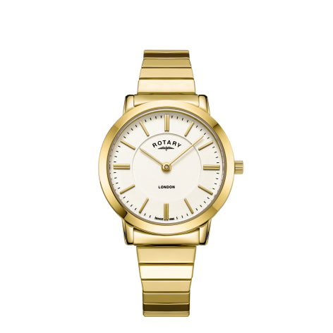 Rotary London Gold Plated Bracelet Ladies Watch LB00766/03
