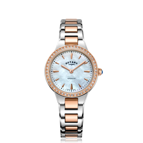 Rotary Two Tone Rose Gold Kensington Ladies Watch LB05277/41