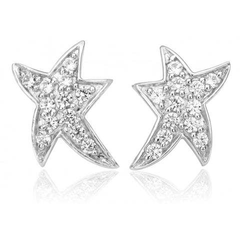 Sif Jakobs - Antares Sterling Silver & White CZ Star Earrings SJ-E1748-CZ 4003144