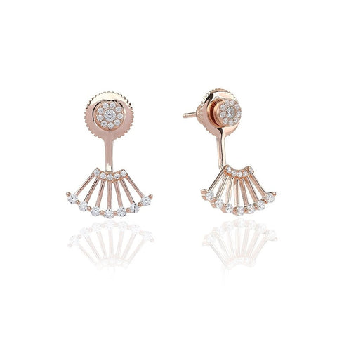 Sif Jakobs - Ravenna Uno Rose Gold & White CZ Earrings SJ-E0604-CZ(RG) 4003396 SALE