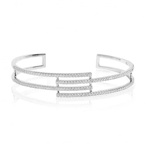 Sif Jakobs - Rufina Sterling Silver with White CZ Bangle SJ-BG0094-CZ