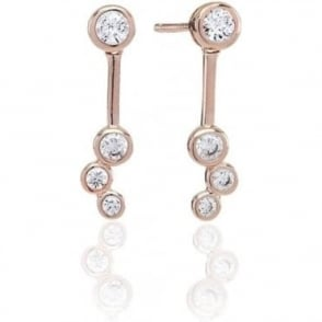 Sif Jakobs - Sardinien Tre Rose Gold with White CZ Earrings SJ-E0728-CZ(RG) 4003397