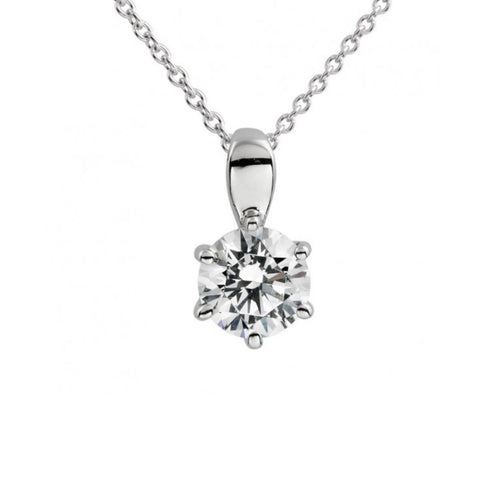 Diamonfire 0.5ct CZ Solitaire Pendant 65/1005/1/082