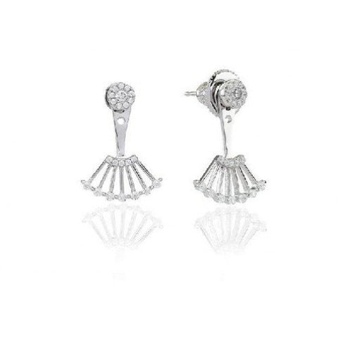 Sif Jakobs - Ravenna Due Sterling Silver with White CZ Earrings SJ-E0741-CZ 4003389