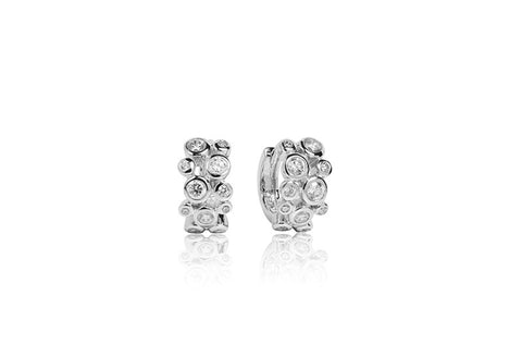 Sif Jakobs - Sardinien Sterling Silver with White CZ Earrings SJ-E1469-CZ 4003107