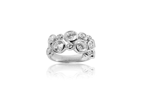 Sif Jakobs - Sardinien Sterling Silver with White CZ Ring SJ-R9956-CZ 4002028