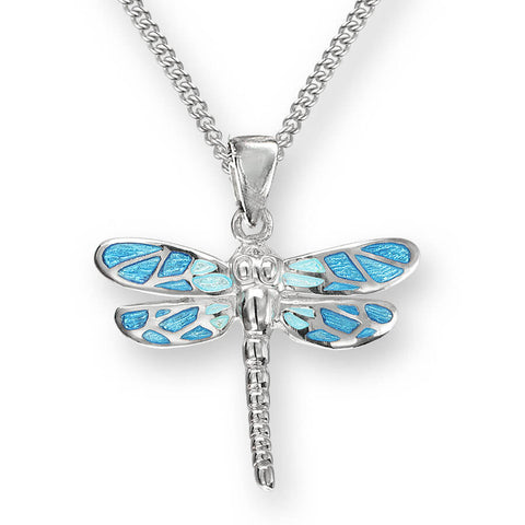 Nicole Barr - Sterling Silver Blue Dragonfly Necklace SN0526A 0402022