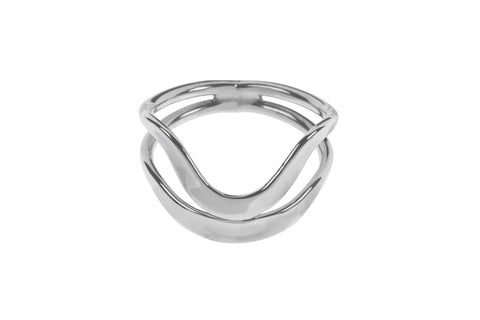 Tianguis Jackson Sterling Silver Dual Row Wave Ring R0916 0408050