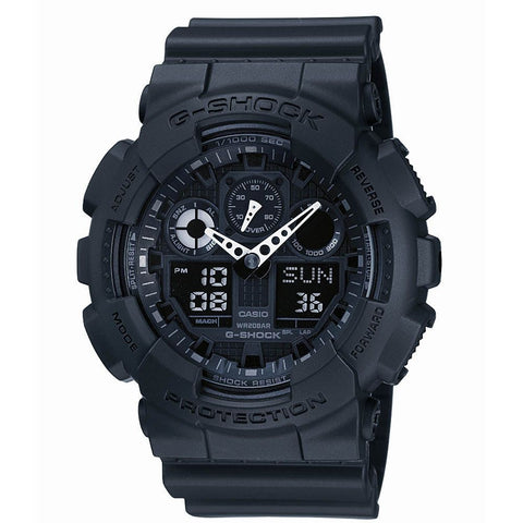 Casio Men's G-Shock Alarm Chronograph Watch GA-100-1A1ER