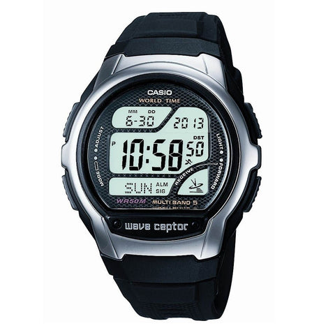 Casio Men's Wave Ceptor Alarm Chronograph Radio Controlled Watch WV-58U-1AVES