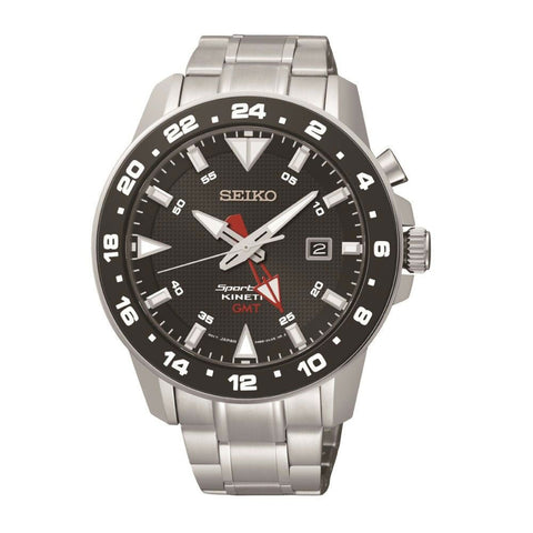 Seiko Sportura GMT Kinetic Mens Watch SUN015P1