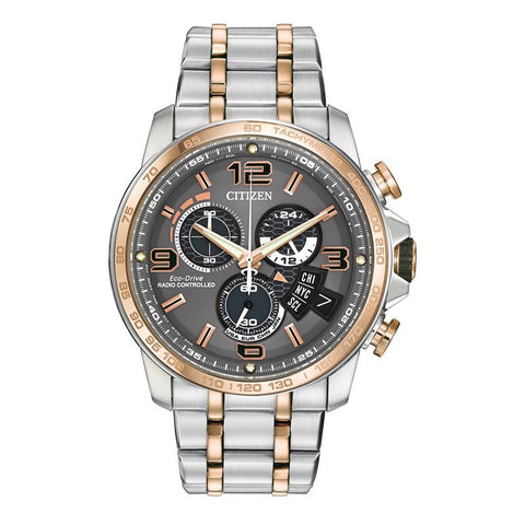 Citizen Men's Chrono Time A-T Alarm Chronograph Eco-Drive Watch BY0106-55H