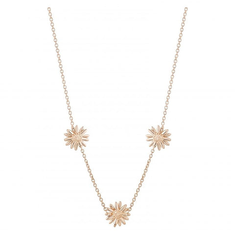 Daisy Three 18ct Rose Gold 10mm Necklace N3015