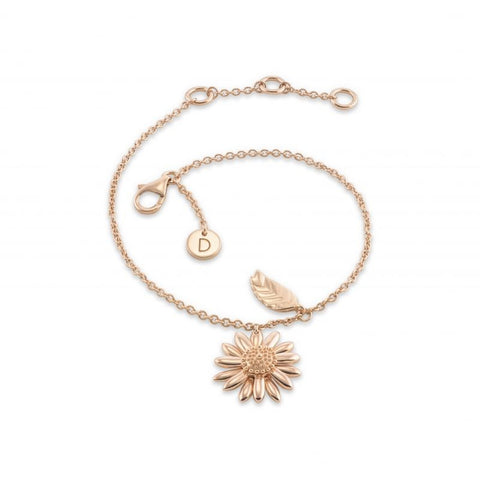 Daisy  Feather Drop 15mm Drop Bracelet BR3111