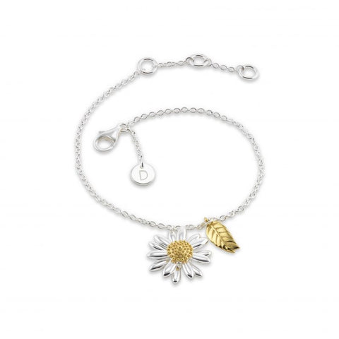 Daisy  Feather Drop 15mm Drop Bracelet BR2111