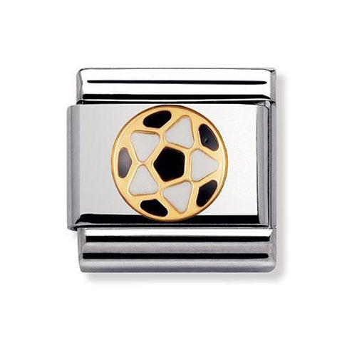 Nomination 18ct Gold & Enamel Black and White Football Charm 030204 17