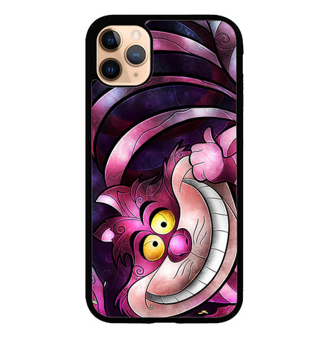 DISNEY CHESHIRE CAT STAINED GLASS Z1190 iPhone 11 Pro Case
