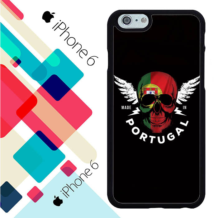 Portugal Skull Flag S0266 iPhone 6 | 6S Case New Year Gifts 2020-iPhone 6 | 6S Cases-Recovery Case