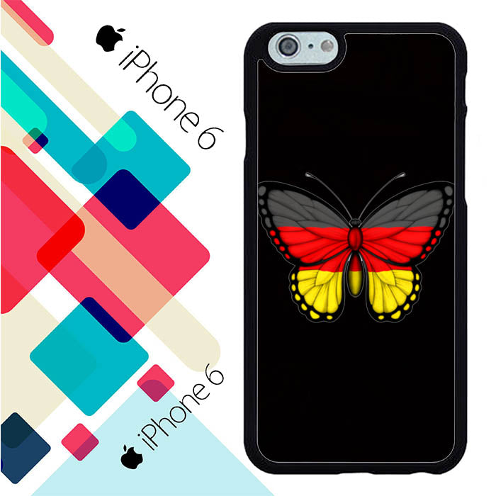 Black Butterfly Germany Flag S0281 iPhone 6 | 6S Case New Year Gifts 2020-iPhone 6 | 6S Cases-Recovery Case