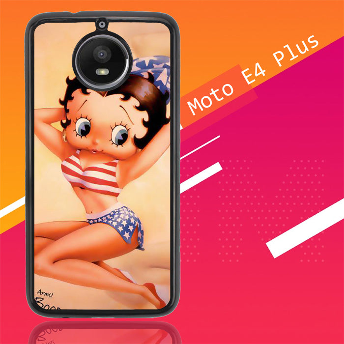 Betty Boop Pinup F0306 Motorola Moto E4 Plus Case New Year Gifts 2020-Motorola Moto E4 Plus-Recovery Case
